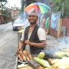"""I worked as a cook before I started to sell corn. It gives"