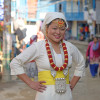 """This is the first time I am wearing our cultural dress. I b"